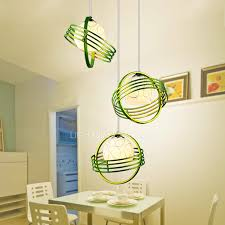 Green Pendant Lights Restaurant Pendant Lights With 3 Light Green Color Metal