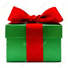 gift boxes christmas green christmas gift box with bow isolated on white stock
