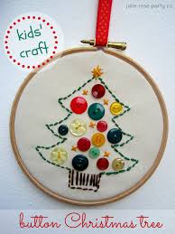 kids u0027 craft sew a button christmas tree julie rose party co