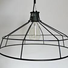 wire light bulb cage hanging metal wire l shade exposed bulb cage light chandelier
