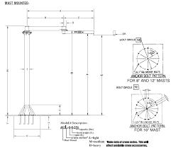 spanco freestanding mast type articulating jib crane 1000 lbs
