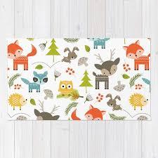 tapis chambre d enfants enfants tapis animaux de la forêt impression tapis tapis de