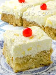 easy pineapple cake recipe from yummiest food cookbook