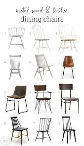 Modern Leather Dining Chairs Metal Wood And Leather Dining Chairs For The Modern Farmhouse