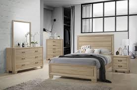 Oak Bed Set Coaster Vernon 206351 White Washed Oak Bedroom Set King Bed