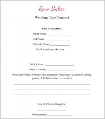 wedding cake order form wedding cake contract wedding cake ideas