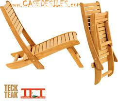 chaise pliante de plage chaise pliante basse de plage bois meuble de salon contemporain