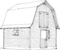 Gambrel Roof Pole Barn Plans 8x8 Gambrel Shed Plans Small Barn Shed Is Built On Skid