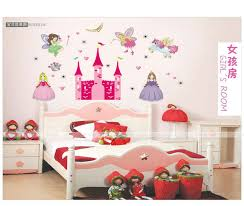 home decor kids angel castle the princess loved children home decor wall decals