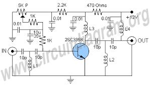 uhf antenna amplifier booster circuit diagram