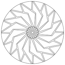 Halloween Mandala Coloring Pages Easy Mandala Coloring Page Getcoloringpages Com