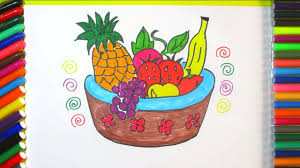 basket of fruit how to draw a basket of fruit easy step by step