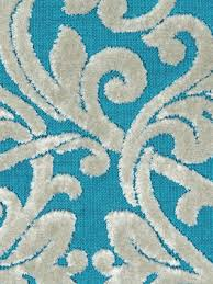 Turquoise Velvet Fabric Upholstery Turquoise Velvet Damask Upholstery Fabric Modern Medallion