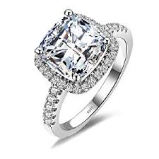 Amazon Wedding Rings by Amazon Com Jewelrypalace Cushion 3ct Cubic Zirconia Wedding Halo