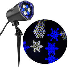 shop lightshow projection multi function white blue led snowflakes