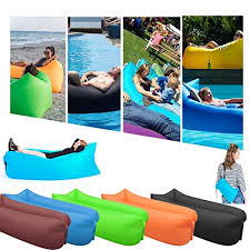 suyi portable inflatable air bed lounger sofa chair sleeping bag