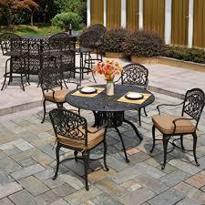 amazing cast aluminum patio set with cast aluminum patio set black
