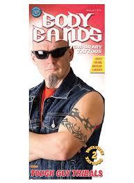 body bands tough guy tribal temporary tattoos maskworld com
