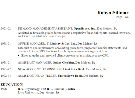 Resume Objective For A Bank Teller Resume For A Supply Chain Manager Or Analyst Susan Ireland Resumes