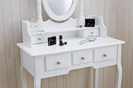 coiffeuse chambre agtc0010 chaise pour coiffeuse blanc meuble miroir de chambre