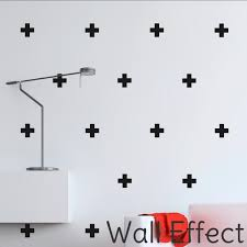 crosses for wall wall effect black crosses decals 6 5cm pip and soxpip and sox