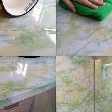 Kitchen Cabinet Covers Yazi Vinyl Marble Effect Wall Sticker Wallpaper Kitchen Cupboard