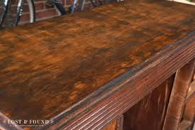 staining a table top applying stain how to refinish a table top or dresser part 2