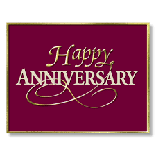 anniversary card for message business anniversary cards burgundy gold happy anniversary cards