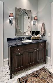 new york walnut bathroom vanity transitional with white carrara
