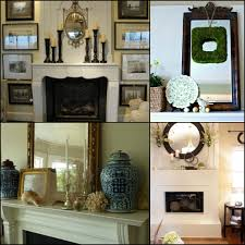 Elegant Mantel Decorating Ideas by Interior Decorative Mirrors For Above Fireplace For Flawless
