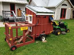 Backyard Chicken Tractor by Mobile Chicken Coop On A Harbor Freight Trailer Mobile Chicken