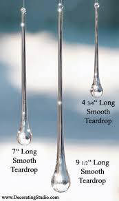 icicle glass teardrop