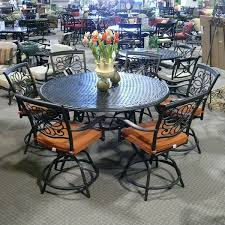 High Table Patio Set Lovable Bar Height Outdoor Dining Table High Tables With Regard To