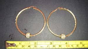 9ct gold hoop earrings used 9ct gold hoop earrings and balls in doncaster for 110 00