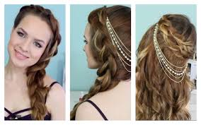 1940s hair accessories and summer time braids hair jewelry