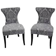 damask chair cosmo grey fan damask dining chair set of 2 free shipping