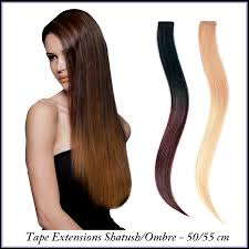 Sticker Hair Extensions by Euro So Cap U0026 Seiseta Tape Extensions Shatush Ombre