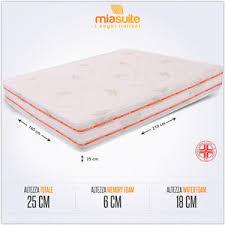 misura materasso matrimoniale materasso matrimoniale memory foam 6 cm 160x210 alto 25 cm fuori