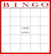 blank bingo card printable kid stuff pinterest blank bingo