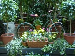 outdoor classic bicycle garden ornament and accessories enhance