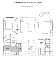two bedroom two bath apartment floor plans the jackson a warm and vibrant two bedroom apartment home