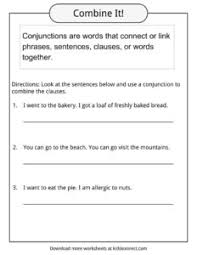conjunctions examples definition u0026 worksheets for kids