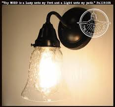 Wall Sconce Light Fixture Kellie Ii Glass Ceiling Lights Trio Of Seeded Glass The L Goods