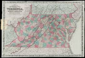 Map Of Maryland And Virginia by Colton U0027s New Topographical Map Of The States Of Virginia West