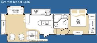 everest rv floor plans used 2008 keystone rv everest 345s fifth wheel at general rv mt