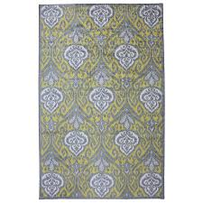 Gray Green Rug Shop Mohawk Home Elegant Ikat Gray Rectangular Indoor Tufted Area
