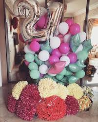 50th birthday flowers and balloons imagen de flowers balloons and goals gifts