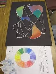 color wheel spiral draw spiral with black marker or paint and