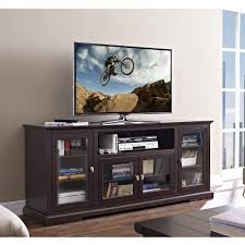 tv unit with glass doors elegant espresso extra tall tv stand console with glass doors