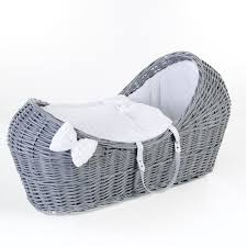buy ginnini grey wicker pod moses basket bubble white